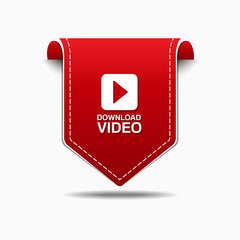 Download Video Red Vector Icon Design