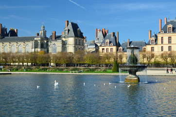 Famous palace of Fontainebleau