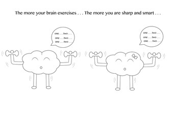 linear brain cartoons exercise