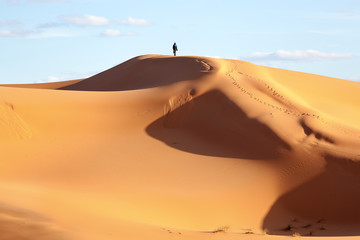 Sand dune in the desert of Morocco