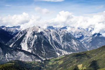 Mountains in the Alps of Tirol