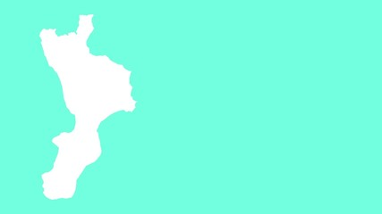 Calabria: negative silhouette