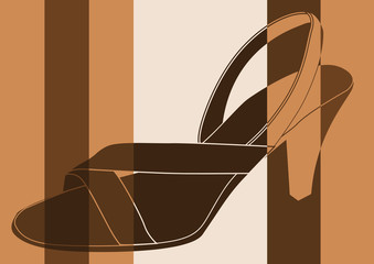 Chaussure de femme à talon