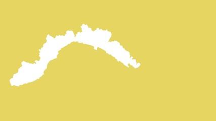 Liguria: negative silhouette