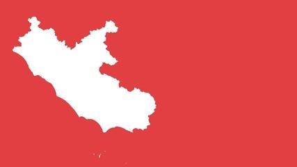 Lazio: negative silhouette