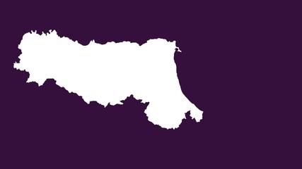 Emilia-Romagna: negative silhouette