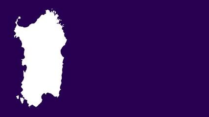Sardinia: negative silhouette