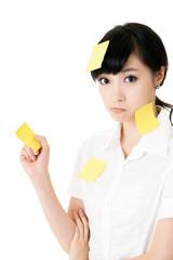 yellow memo note