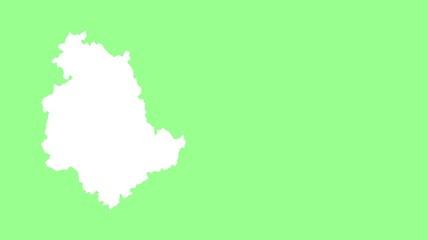 Umbria: negative silhouette