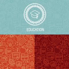 Vector educational logo design