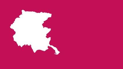 Friuli-Venezia Giulia: negative silhouette