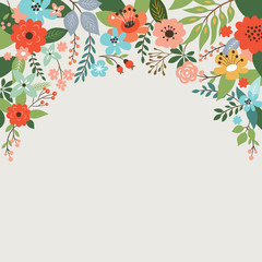 floral design, place for text