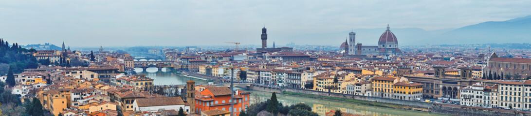 Panoramic view of Arno River