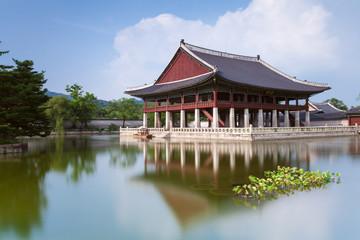 Gyeonghoeru Pavilion of Gyeongbokgung Palace, Seoul.