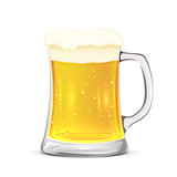 Glass mug of beer