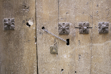 Wooden door lock