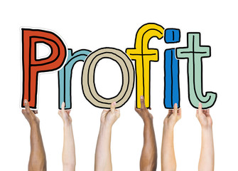 Group Diverse People Hands Holding Profit Concept