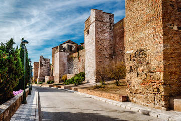 Gibralfaro fortress. Malaga city. Spain