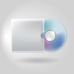 Cd Dvd in Case isolated on white background technology