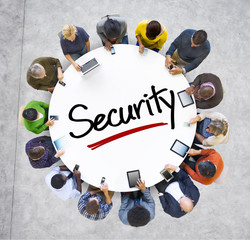 People Social Networking and Security Concept