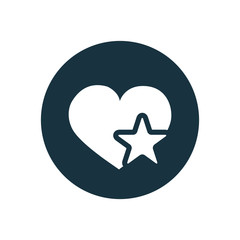 heart star icon
