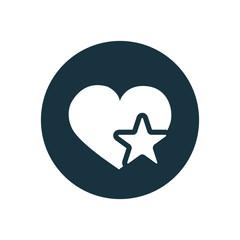 heart star icon