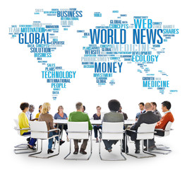 World News Globalization Event Media Information Concept