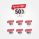 Special Offer % Labels poster