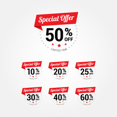 Special Offer % Labels