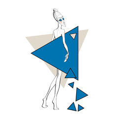 Paper doll with triangles