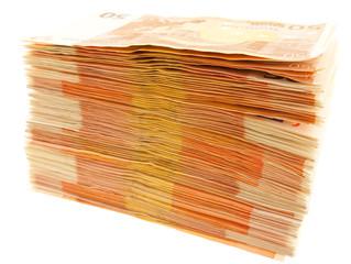 billets empilés