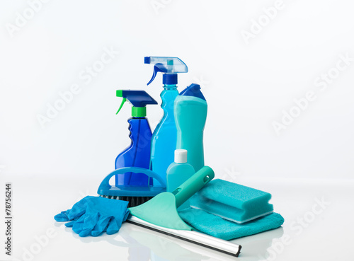 blue cleaning tools - 78756244