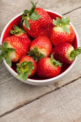 Fresh strawberries bowl.