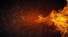 """Постер, картина, фотообои """"Fire flames"""""""