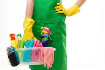 woman ready for spring cleaning