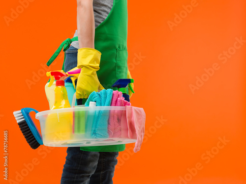 Leinwandbild Motiv spring cleaning in progress