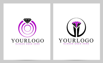 Diamond Logo Vector. Creative ring logo design