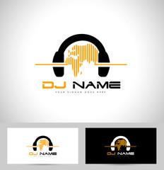 Dj Logo Design. Creative vector logo design with headphones