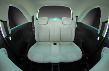 rear seats in a small car