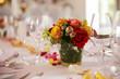 Leinwanddruck Bild - festlich dekorierter tisch bei einer hochzeit