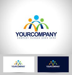 People Logo Design. Unity Logo design concept