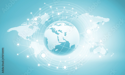 canvas print picture Global net