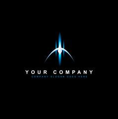 Sci Fi Logo Design Vector. Creative futuristic logo