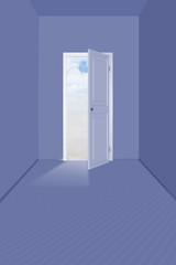 Door in empty room
