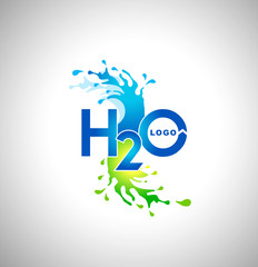 Water Logo Design. Creative water splash logo