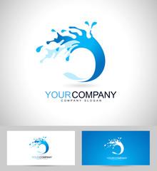 Water Logo Design. Creative vector logo of a water splash