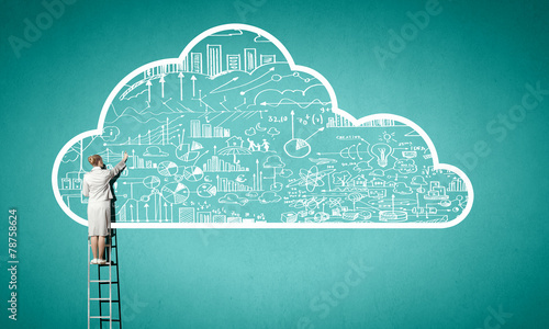canvas print picture Computing cloud