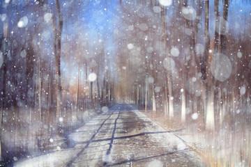 background blur bokeh cityscape park autumn winter