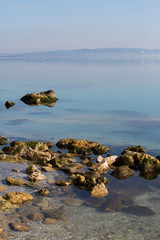 paysage méditerrée - mer calme rocher
