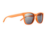 Orange sun glasses isolated